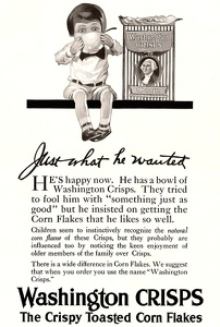 Washington Crisps Corn Flakes -1915A