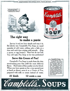 Campbell's Pea Soup -1923A
