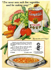 Campbell's Vegetable Soup -1925A
